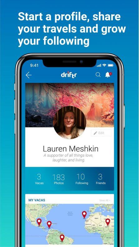 Driftr travel social network